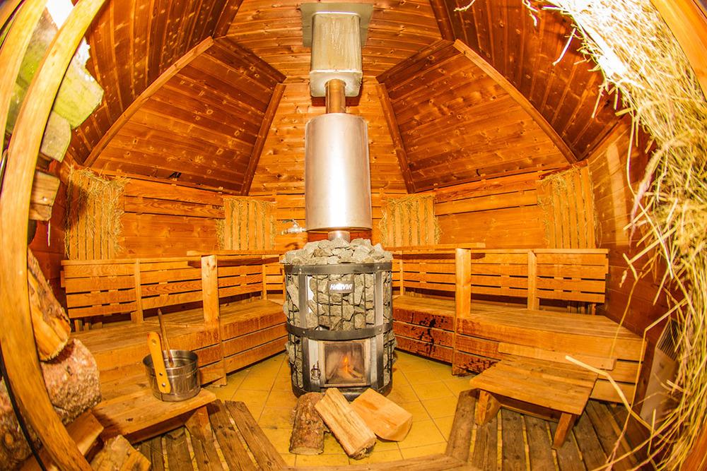 Die Heu-Sauna im Landhotel Grimmeblick